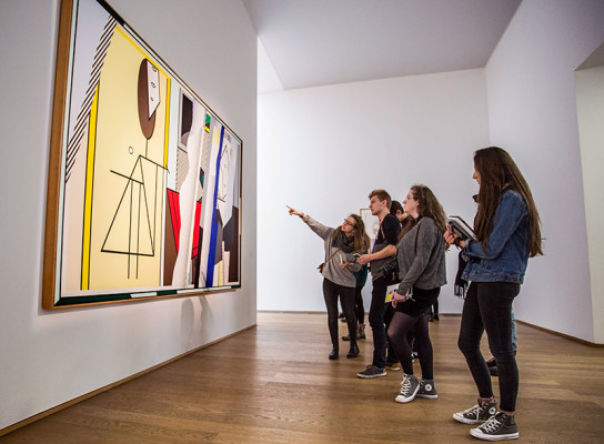 Paston students on art gallery trip