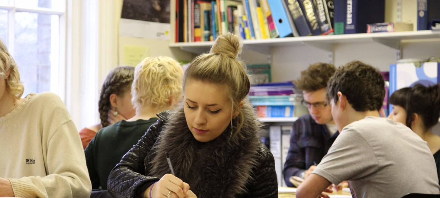 Paston students working in French classroom