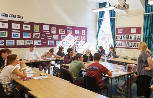 Paston College students being taught in a classroom