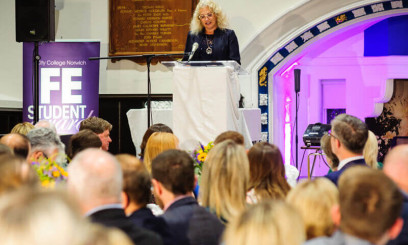 Speaker at City College Norwich FE Awards event